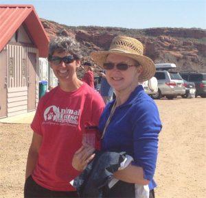 Kim Clarkson and Volunteer